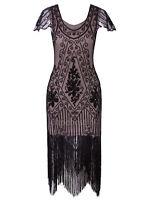 Sequins Beads Vintage 1920s Flapper Dress Party Dresses Evening Gown Plus Size