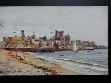 Isle of Man: Peel Castle c1950 Art by A.R.Quinton By J.Salmon No.1946