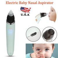 Hygienic Safe Baby Nasal Aspirator Electric Nose Snot Sucker Nostril Cleaner US