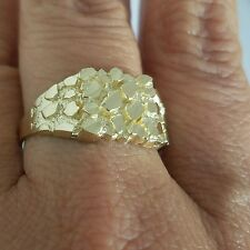 Man's solid 14k yellow Gold Nugget Ring S 9 10 11 12