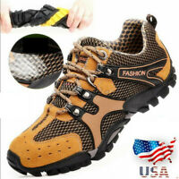 US Men's Sport Shoes Hiking Trail Trekking Athletic Water Fisherman Mesh  #