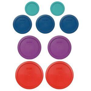 Pyrex 9 Piece Multi-Color & Size Replacement Lid Bundle For 7202,7200,7201,7402