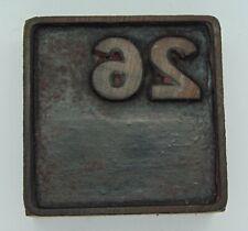 Vintage Printing Letterpress Printers Block All Wood Calendar Square 26