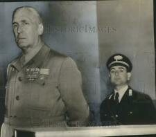 1950 Press Photo Marshal Rodolfo Graziani, Other at court in Rome, Italy