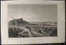 GEISENHEIM JOHANNISBERG. Originaler Stahlstich von LANGE / ROHBOCK 1850