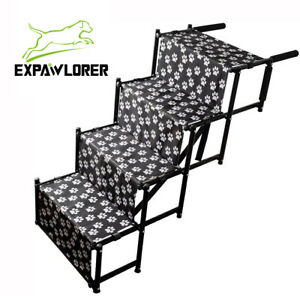 EXPAWLORER Non-Slip Dog Steps For Bed, SUV, Car Ramp Portable And Foldable