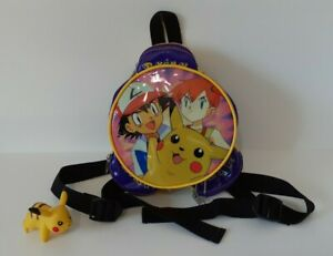 Pokemon Vintage Mini Backpack Bag Pikachu Ash Misty Nintendo Purple