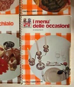 I JOLLY DELLA BUONA CUCINA i menù delle occasioni 1973 FABBRI Stucchi