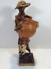 Vintage Mexican Folk Art Paper Mache Figure-Male worker