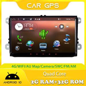 Autoradio GPS Navi 2G+32G Per VW Passat CC B6 /Golf/Tiguan/Caddy/Polo BT OBD DAB
