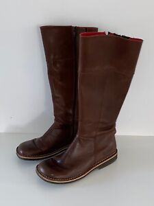 KICKERS Boots Damen Lederstiefel 38 Braun Leder Stiefel Schuhe  07