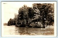 Vintage RPPC Postcard Little St Germain Lake Eagle River Wisconsin WI Real Photo