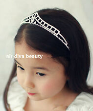 Girl Kids Children Crystal Crown Tiara Bling Wedding Party shiny Hair Head band