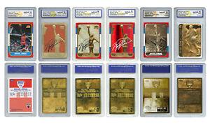 Michael Jordan Fleer ROOKIE Explosion 6-Card Set Special Refractors Gem-Mint 10