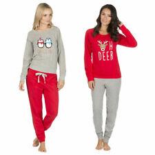 Señoras para mujer Pijama Set Regalo de Navidad Reno Pingüino PJ Pelele Novedad Festivo