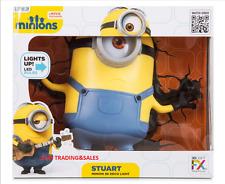 Despicable Me Minions Stuart 3d Deco LED Wall Night Light Crack Sticker