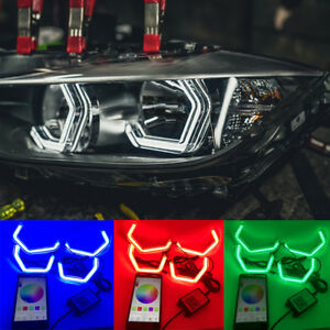 WIFI  Multi-Color M4 Style LED Crystal Angel Eye light Kits for BMW 4 series F32