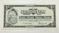 1974 Canadian Tire 5 Five Cents CTC-S4-B-HN Uncirculated Money Banknote E139