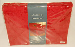 WATERFORD Marquis VINCENTE RED TABLECLOTH 60x144 Napkins & Placemats SET *NEW