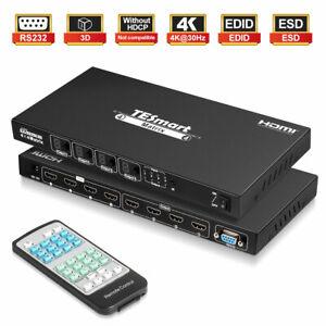TESmart 4x4 HDMI  Matrix Support 4K@30Hz EDID RS232 IR Control