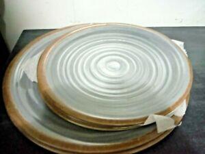 Elama Stone Oak 6 Piece Lightweight Melamine Lot of 6 Plate, 2 large, 4 small