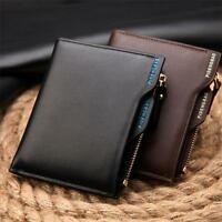Bifold Genuine Leather Card Holder Mens Coin Slim Wallet Money Clip Purse Lot