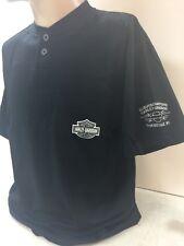 Harley-Davidson Men's black Short sleeve pocket Henley Emboriderd shirt B&S 2XL