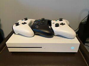 Microsoft Xbox One S 500GB White Console with 3 Wireless Controllers