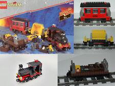 Lego 9V Eisenbahn TRAIN 3225 SET - Dampflok / Waggon - ENGINE WAGON