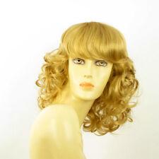 perruque femme mi-longue bouclée blond doré ref: célia 24b