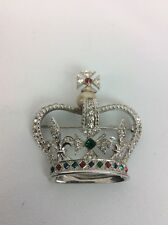 Gorgeous Vtg. MB Marcel Boucher Royal Crown Silver Tone Pin Brooch 5396 Rare
