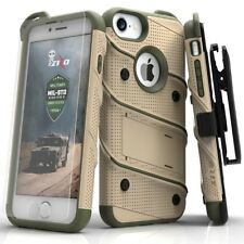 iPhone 7 Plus Case Heavy Duty Armor Military Grade Holster Belt Clip Desert