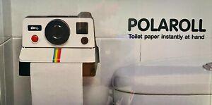 POLAROID™ POLAROLL RETRO MODERN WALL MOUNTED BATHROOM TISSUE DISPENSER