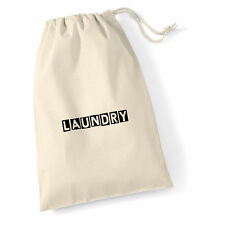 westford mill 100% cotton extra large laundry bag with draw string