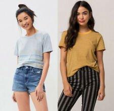 *Lot of 2*** Pac Sun, Tilly's Short Sleeve T-Shirts (XS/S) Cropped Yellow Stripe