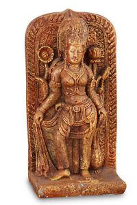 Stein Statue Garten Dekoration Buddha Dhevi Gartendeko Skulptur Asia Asien Beton