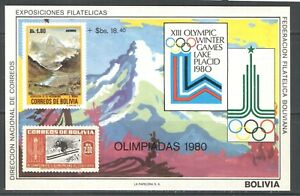BOLIVIA 1979, LAKE PLACID AND MOSCOW OLYMPICS, Michel Bl. 89, MNH