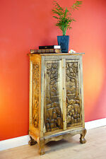 Solid Wood Cabinet Dresser with Elephants Carving Solid Wood Highboard Hall