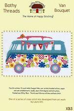 Bothy threads caravane VW bouquet de fleurs & bunting Cross Stitch Kit