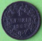 ALLEMAGNE 1 KREUZER HESSEN 1862