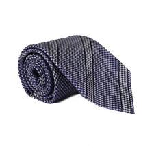 Tom Ford Purple Regimental Stripe Pattern Woven Silk Wool Tie - Brand New