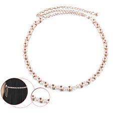 Ladies Adjustable Metal Waist Belt Sparkling Crystals for Women Dresses Skirts