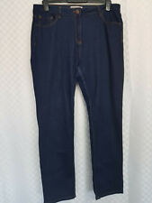 Ladies PAPAYA Jeans Plus Size 18 W36 L32 Navy Blue Dark Wash Stretch Zip Pockets