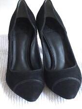 Tory Burch Bernice Black 95MM Suede Pumps, Size 9.5, NIB