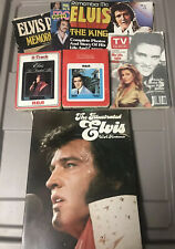 Old/Vintage Elvis Presley Tv Guide Magazines 8 Track Tapes Mixed Lot Loc#O