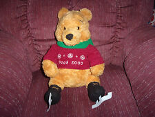 "Disney Winnie the Pooh Plush 2000 Winter Christmas Skater 15"" Tall - Displayed"