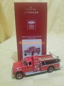 Hallmark 2021 1966 Ford Fire Engine Brigade Truck Series Christmas Ornament YL