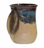 Clay in Motion Handwarmer Left Handed Ceramic Coffee Mug - Chocolate Mudslide