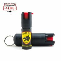 NEW Guard Dog Pepper Spray 1/2 Ounce 18% OC Hard Case Keychain Belt Clip (Black)