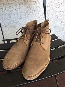 Mark Nason Tan Beige Suede Leather Ankle Desert Chukka Boots Men's 10.5